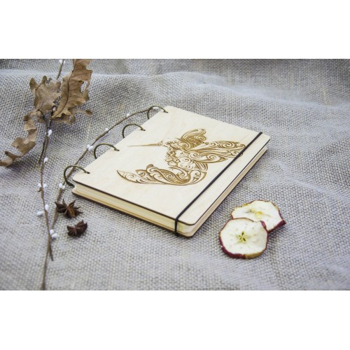 """A5 Plywood notebook """"Colibri"""" with rings"""