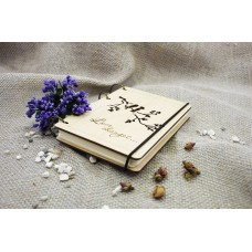 """Notepad A6 """"Birds"""" made of plywood on rings. Notebook. Album for drawing. A diary. Sketchbook"""
