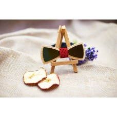 "Bow tie ""Gold"" made of natural wood"
