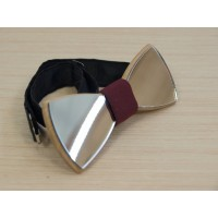 "Bow tie ""Silver"" made of natural wood"