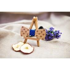 "Bow tie ""Polka dots"" made of natural wood with veneer"