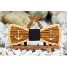 "Bow tie ""Achor"" made of natural wood with veneer"