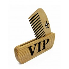 "Comb of natural wood ""VIP"" in a holder for beard and hair"