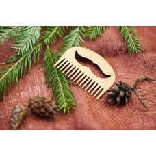 """Wooden beard comb """"Mustache"""""""