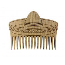 """Wooden beard comb """"Sombrero"""""""