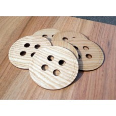 "Costers ""Buttons"" set of 4 pieces of natural wood (cut) (Stands for hot cups)"