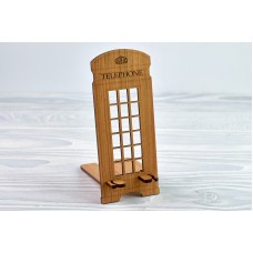 """Stand for phone """"Phone booth"""" from a natural wood"""