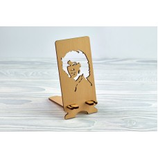 """Stand for phone """"Jim Morrison"""" from a natural wood"""