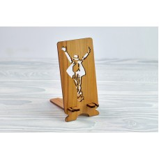 """Stand for phone """"Michael Jackson"""" from a natural wood"""