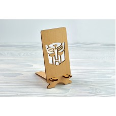 """Stand for phone """"Robot"""" from a natural wood"""
