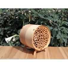 """Lamp-night lamp """"Barrel"""" from natural veneer and plywood"""