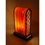 "Luminaire-night light ""Vysoky"" from natural veneer and plywood"
