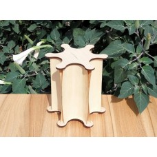 "Lamp-night lamp ""Nonexistence"" from natural veneer and plywood"