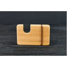 "Cardholder for bank cards ""Classic-vertical"" made of natural wood"