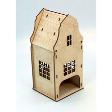 """Tea house """"Amsterdam"""" designer model for decoupage, house for tea bags"""
