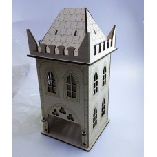 """Tea house """"Gothic"""" designer model for decoupage, house for tea bags"""