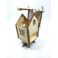"""Tea house """"Hut"""" designer model for decoupage, house for tea bags"""