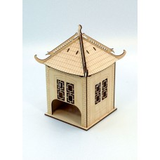 """Tea house """"Chinese"""" designer model for decoupage, house for tea bags"""