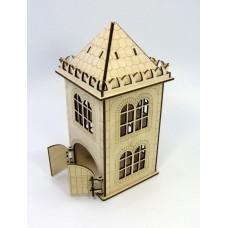 """Tea house """"Tower"""" designer model for decoupage, house for tea bags"""