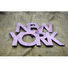 """Wall clock """"New York"""" 30 cm in diameter."""