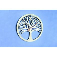 "Wall clock ""Tree"" 30 cm in diameter."