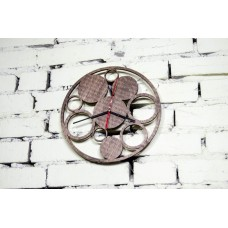 "Wall clock ""Circles"" 30 cm in diameter."