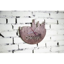 "Wall clock ""Chicago"" 30 cm in diameter."