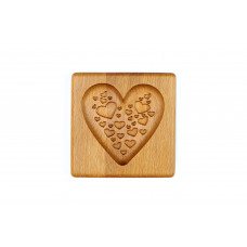 Gingerbread board Hearts in a heart 10 * 10 * 2cm for forming a printed gingerbread.