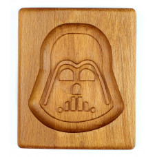 Gingerbread board Darth Vader 10 * 12 * 2cm  for forming a printed gingerbread.