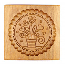 Gingerbread board a bouquet of hearts 15 * 15 * 2 cm to form a printed gingerbread.