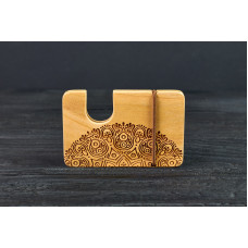 "Cardholder for bank cards ""Oriental""made of natural  wood"