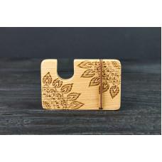 "Cardholder for bank cards ""Mandala""made of natural  wood"
