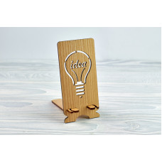 """Stand for phone """" Idea """" from a natural wood"""