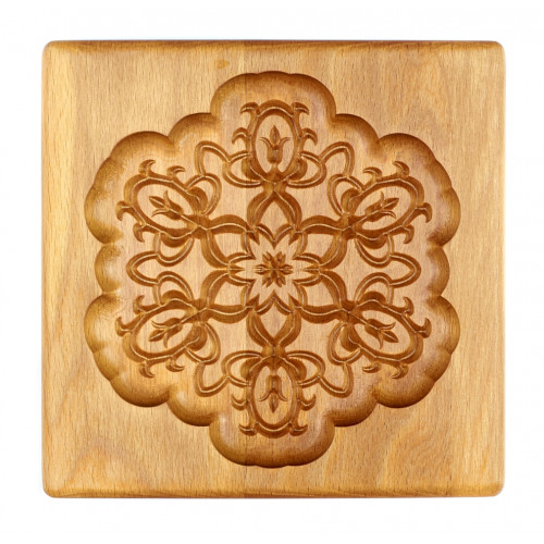 Gingerbread board Snowflake 15 * 15 * 2cm for forming a printed gingerbread.