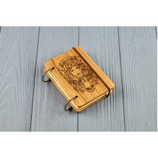 "Pocket notebook made of wood A7 on rings ""Amazon"""