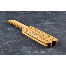 "Wooden folding comb ""Anchor"" for a beard and hair"