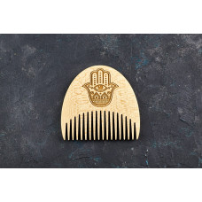 "Wooden beard comb ""Hamsa"""