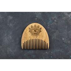 "Wooden beard comb ""Eye"""