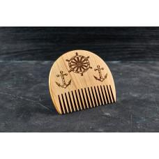 "Wooden beard comb ""Marine"""