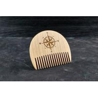"Wooden beard comb ""Windrose"""