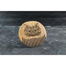 """Wooden beard comb """"Cat """""""