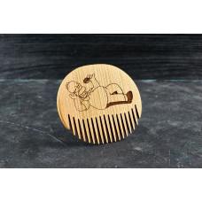 """Wooden beard comb """"Homer """""""