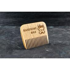 """Wooden beard comb """"Handsome man """""""