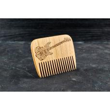 "Wooden beard comb ""Guitar """