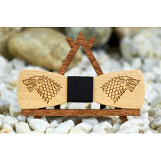 Tie butterfly engraving Game of Thrones Slim on the neck for men's shirts