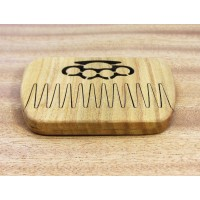 "Wooden comb for beard ""Knuckles"" with magnets"