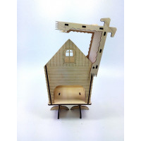 "Tea house ""Hut"" designer model for decoupage, house for tea bags"