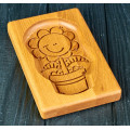 Gingerbread board Dancing flower 14 * 10 * 2cm to form a printed gingerbread.