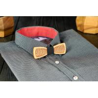 Tie veneered bow tie Slim on the neck for men's shirts