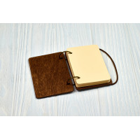 Notebook A7 Breaking Bad of Plywood Dark on the Rings